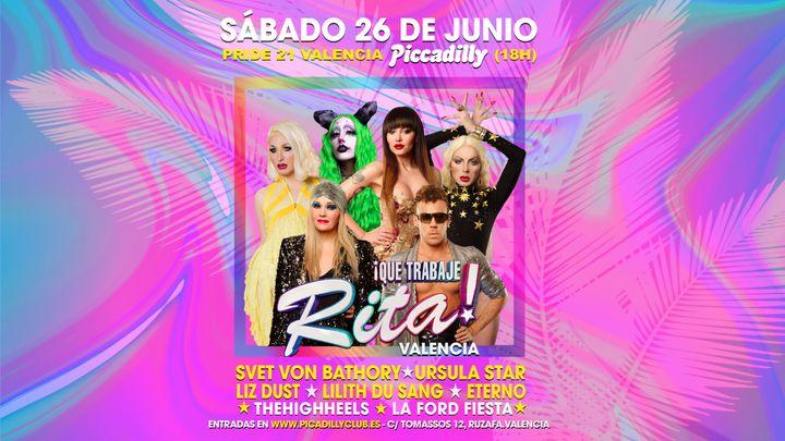 Cover for event: Sábado 26 de Junio _ QUE TRABAJE RITA Privée PRIDE EDITION