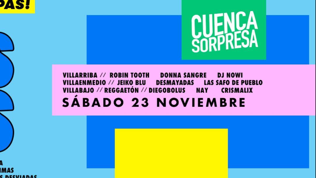 SÁBADO 3 SALAS: CUENCA SORPRESA #CUENCAclub event cover