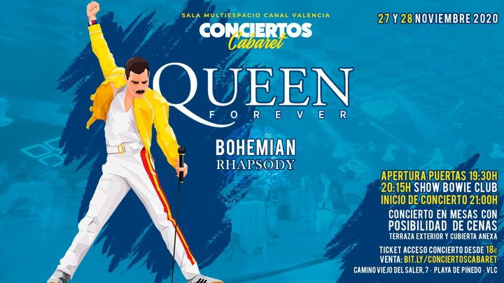 Cover for event: SÁBADO - Conciertos Cabaret - Queen Forever