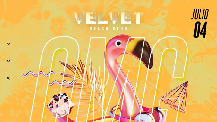 Cover for event: Sábado Velvet Beach 4 de julio