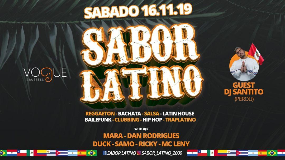 Sabor Latino X 16.11 X Invit Dj Santito (Peru) X Vogue Brussel event cover