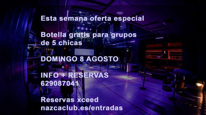 Cover for event: SALA NAZCA DOMINGO 8 AGOSTO