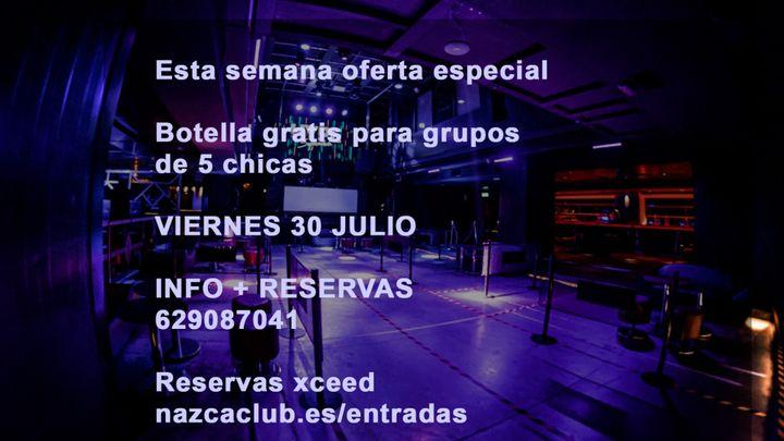 Cover for event: SALA NAZCA VIERNES 30 JULIO