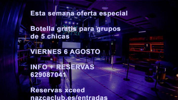 Cover for event: SALA NAZCA VIERNES 6 AGOSTO