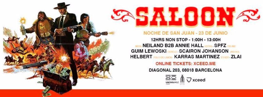 Cartel del evento SALOON - Noche de San Juan