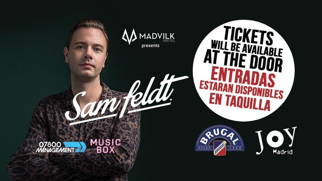 Cartel del evento SAM FELDT  @ JOY ESLAVA 28/02/20