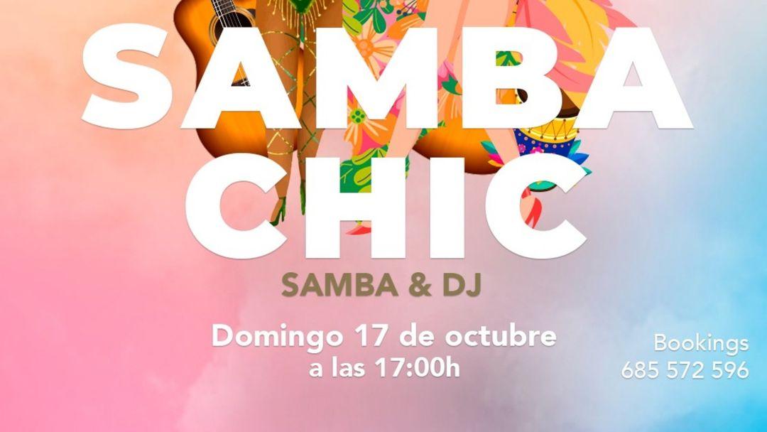 Cartel del evento Samba Chic - Domingo 17 octubre en Cachito Diagonal