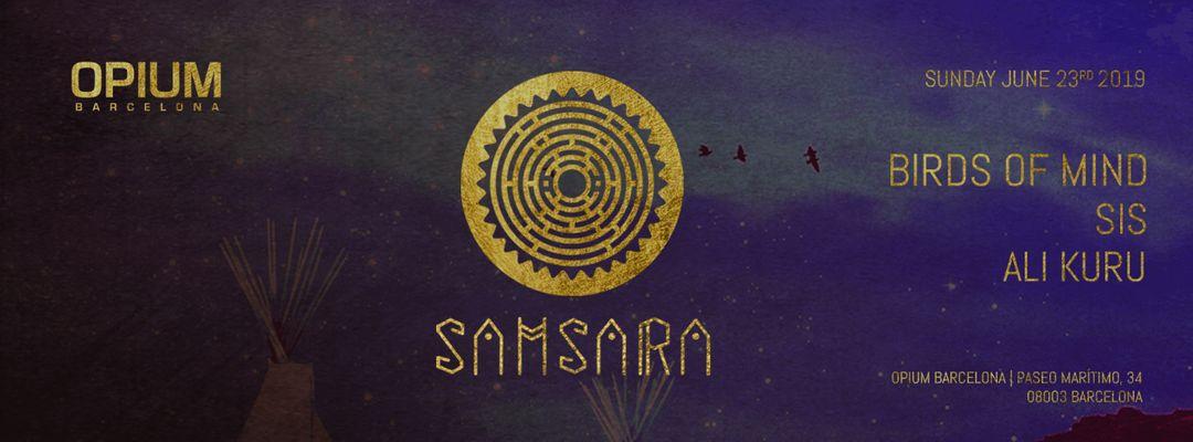 Samsara w/ Birds of Mind, SIS 6 Ali Kuru-Eventplakat