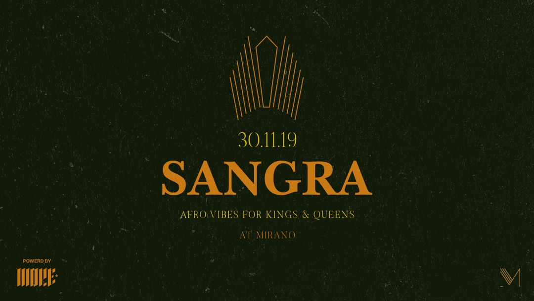 Sangra - Afrobeats | Mirano 30.11 event cover