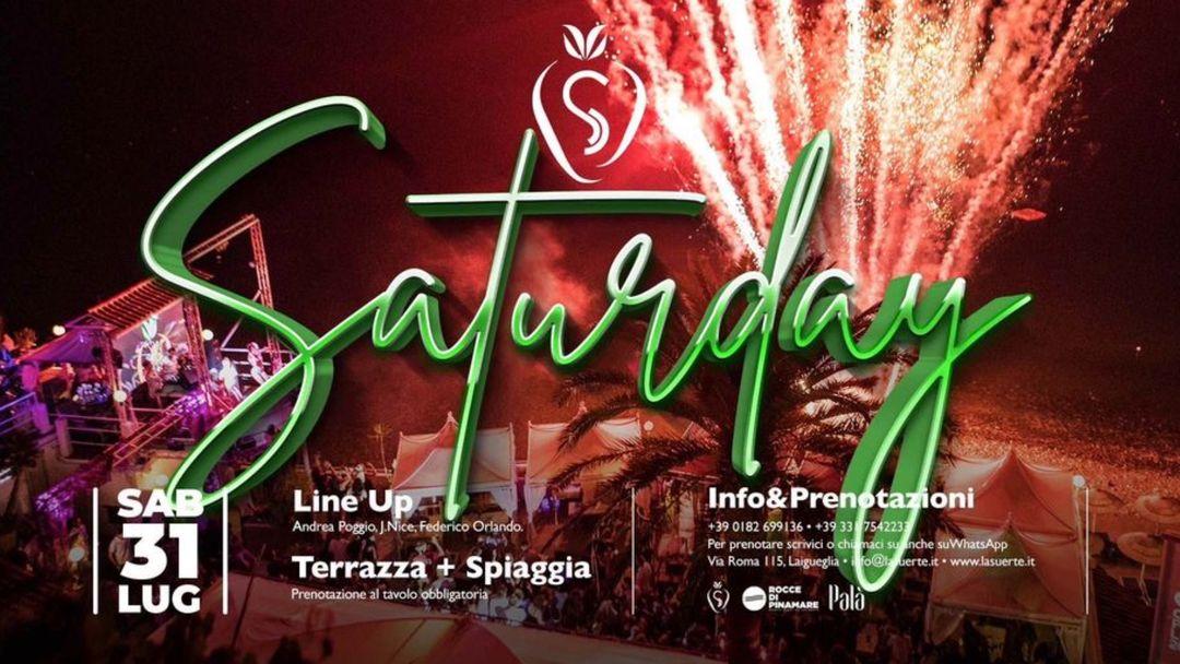 Saturday Night -31/07 La Suerte event cover