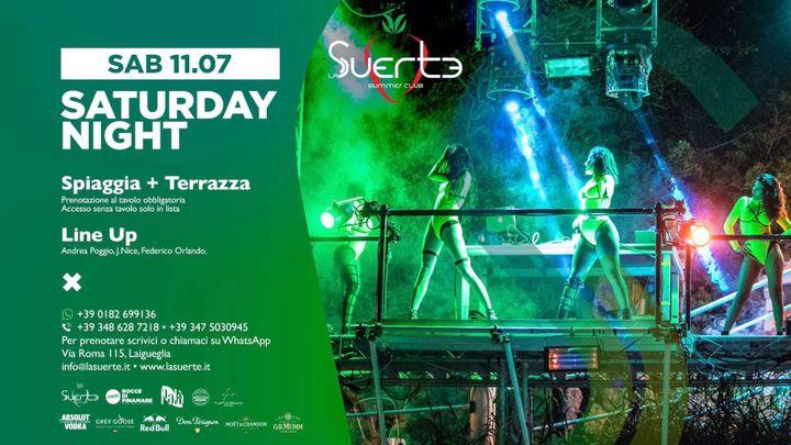 Cover for event: Saturday Night - Spiaggia + Terrazza - Sab 11/07 - La Suerte Summer Club