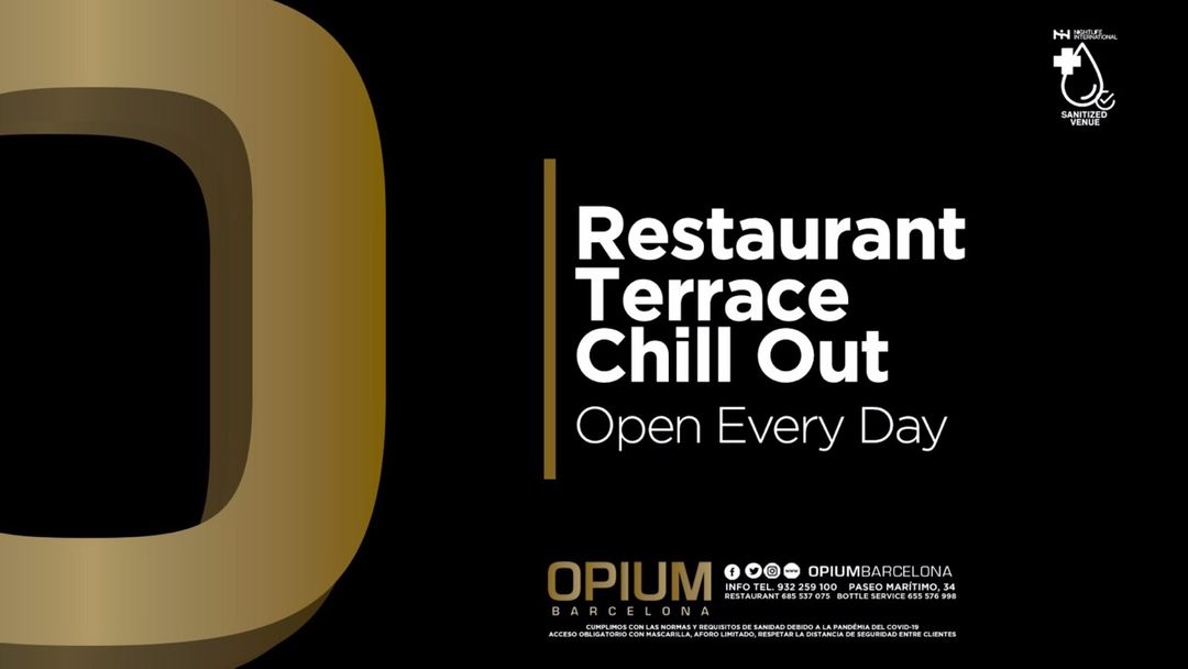 Saturday   Restaurant, Terrace & Chill Out event cover