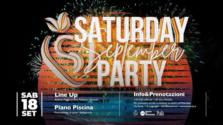 Cover for event: Saturday September Party: Extra Date - 18/09 La Suerte