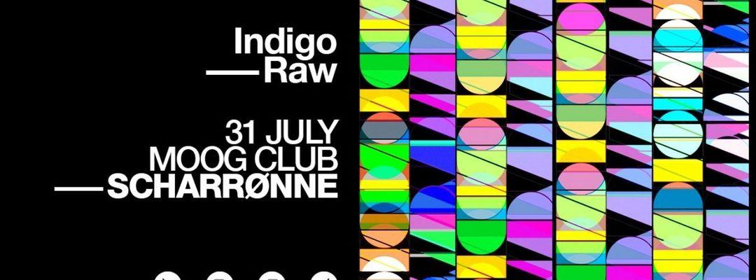 Cartel del evento Scharrøne: Scharre & Nerone - Indigo Raw