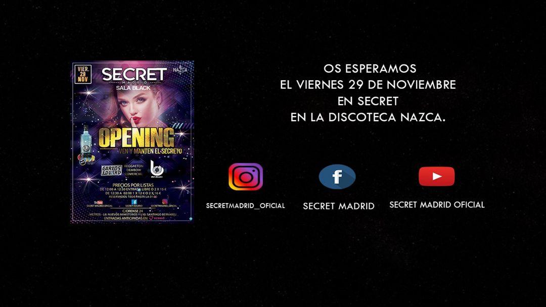 SECRET 29 noviembre event cover