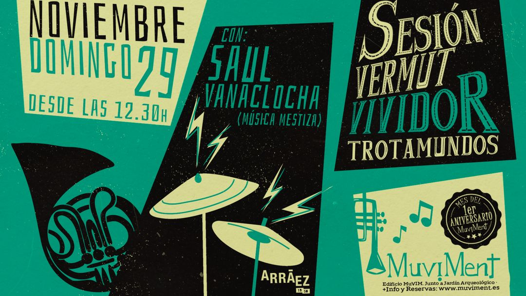 Sesión Vermut Vividor Trotamundos con Saül Vanaclocha event cover