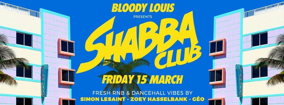 Copertina evento Shabba Club