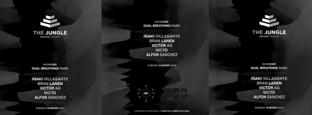 "Cartel del evento Showcase ""Dual Breathing & RARA"""