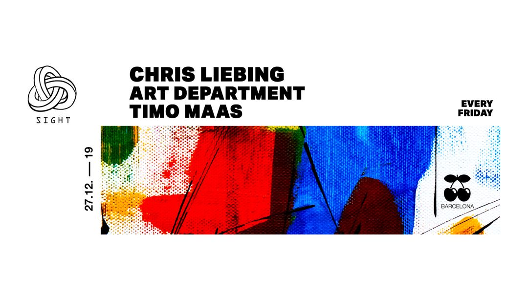 Cartel del evento SIGHT pres. Chris Liebing, Art Department and Timo Maas