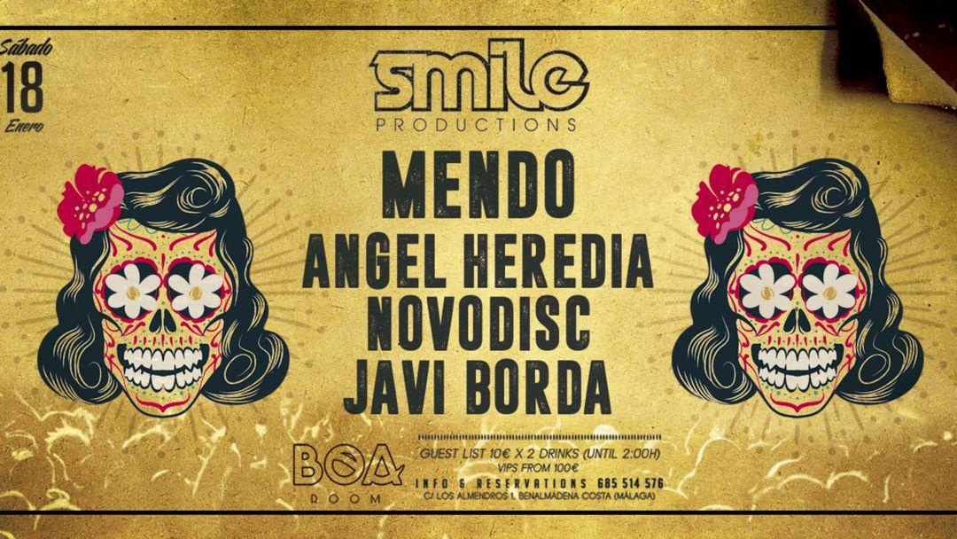 Cartel del evento Smile w/ Mendo @ BOA Room