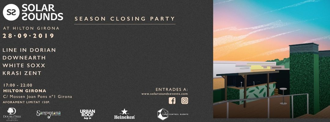 Cartell de l'esdeveniment Solar Sounds Closing party at Hilton