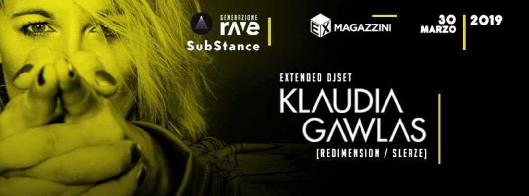 SosTanza Techno present : KLAUDIA GAWLAS ( 3 hours Dj Set ) event cover