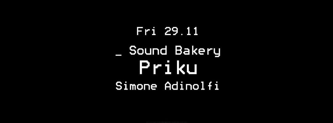 Copertina evento Sound Bakery _ Priku