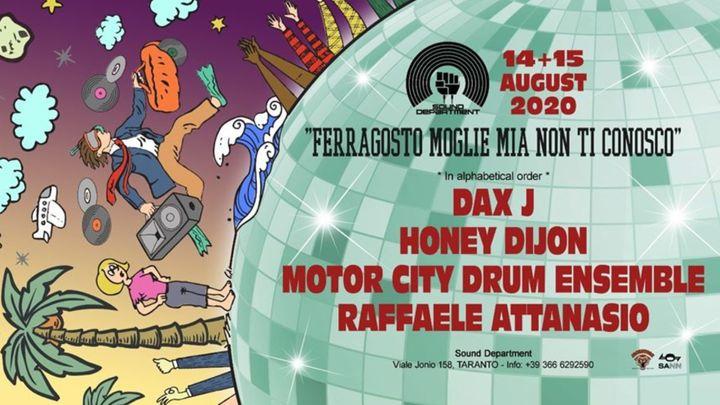 Cover for event: Sound Department 15 agosto 2020 - Raffaele Attanasio & Motor City Drum Ensemble