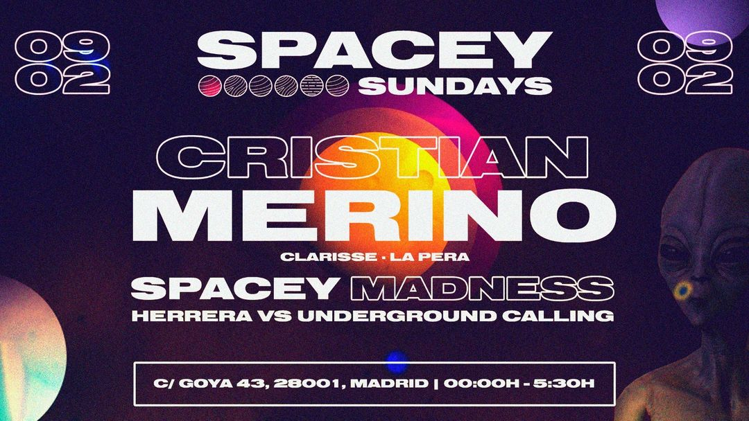 Cartel del evento Spacey Sundays @Goya Social Club
