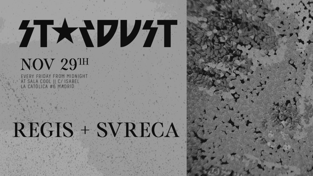 Stardust invites: Regis, Svreca event cover