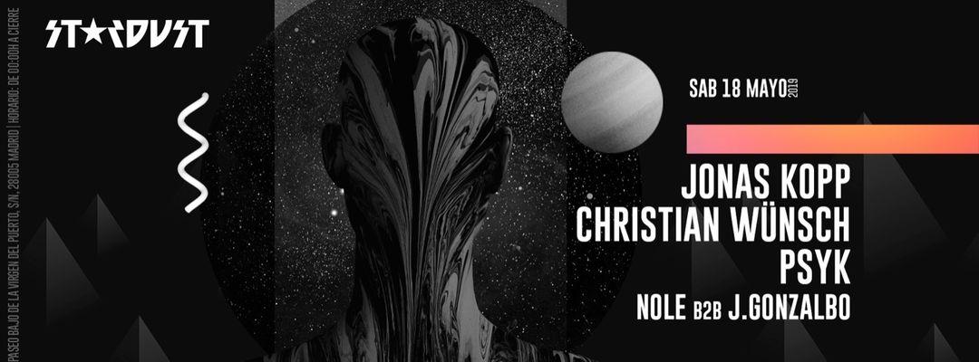 Capa do evento Stardust Madrid: Jonas Kopp, Christian Wünsch, Psyk