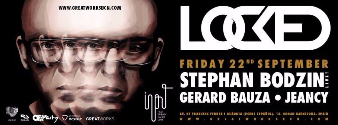 Stephan Bodzin LIVE presented by Locked event cover