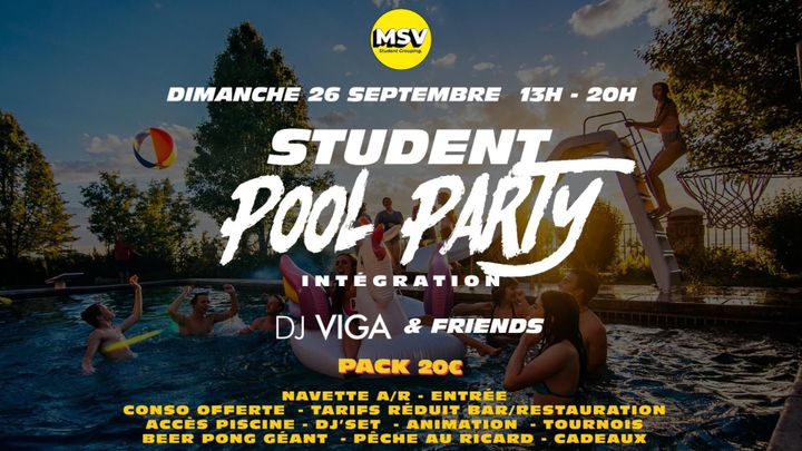 Cover for event: STUDENT POOL PARTY - ICT - IFSI - IFAG - IUT INFO - ISG - ESQESE