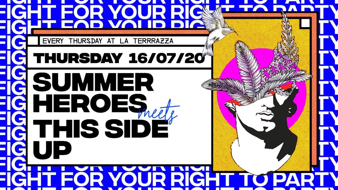 Cartel del evento Summer Heroes Meets This Side UP