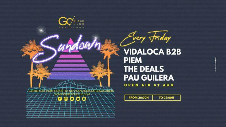Cover for event: Sundown - Vidaloca b2b Piem + The Deals & Pau Guilera