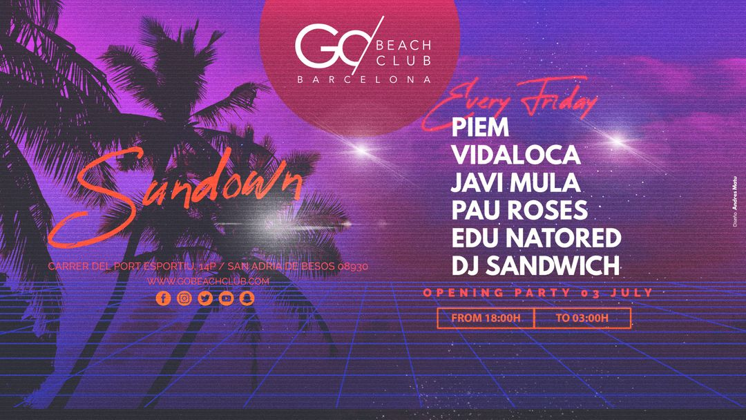SUNDOWN Opening Party event cover