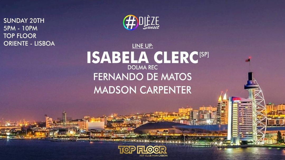 Sunset Dieze Party With Isabela Clerc event cover