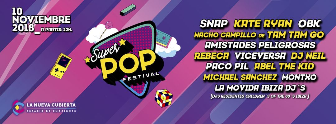 Cartel del evento SuperPOP Festival