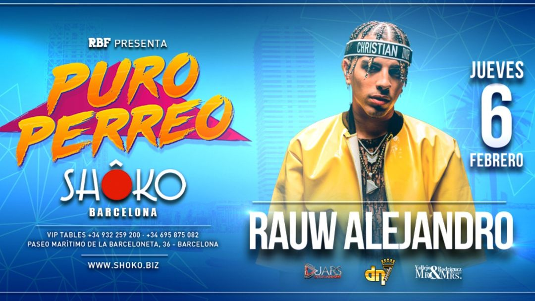 Cartel del evento Swag City | RAUW ALEJANDRO en Concierto