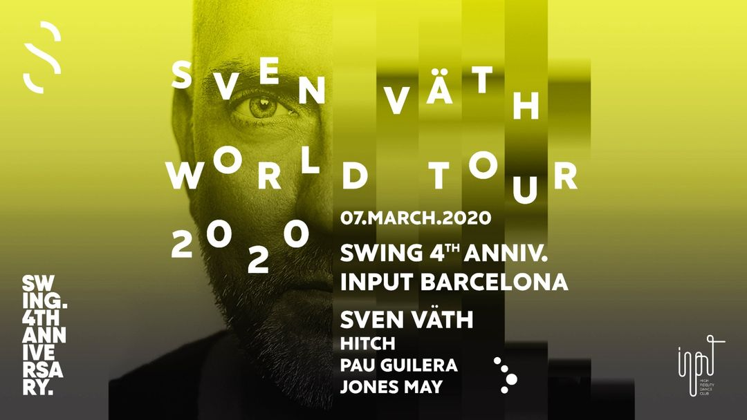 Copertina evento SWING IV anniversary with SVEN VÄTH
