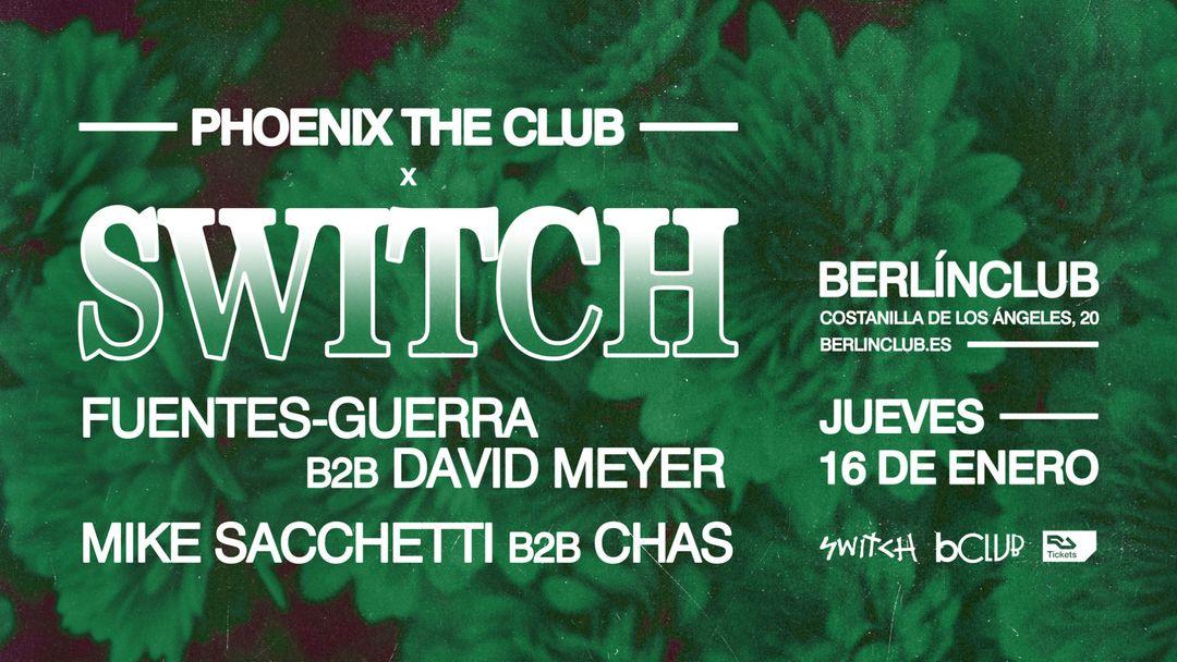 Cartel del evento Switch x Fuentes-Guerra b2b David Meyer