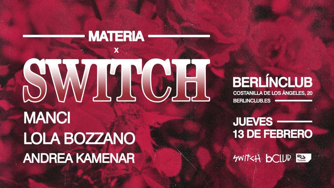 Cartel del evento Switch x Manci + Lola Bozzano