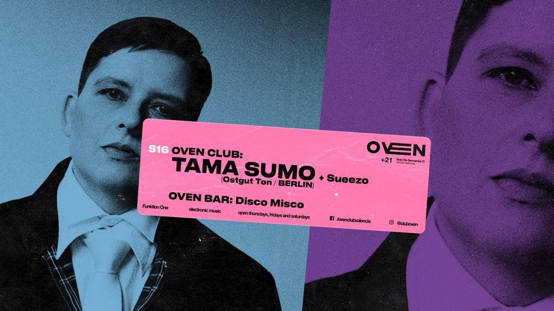 Cartel del evento TAMA SUMO + SUEEZO