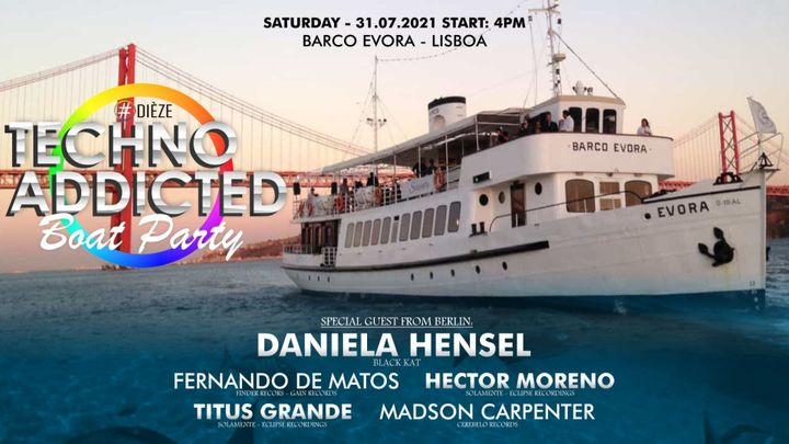 Cover for event: Techno Addicted Boat Party 31/7/2021