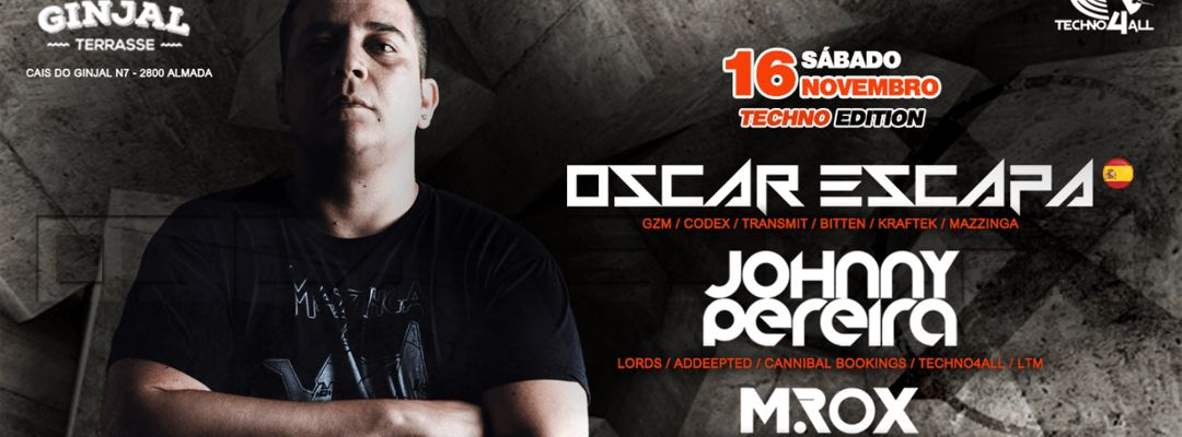 Techno4All - Oscar Escapa (SPAIN) - Ginjal Terrasse event cover