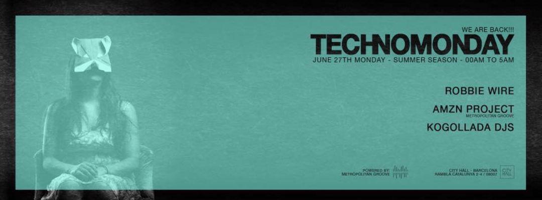 Cartel del evento TechnoMonday   Summer Season