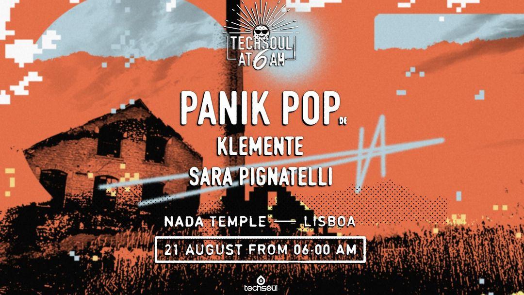 Techsoul at 6AM w/ Panik Pop (DE) -Eventplakat