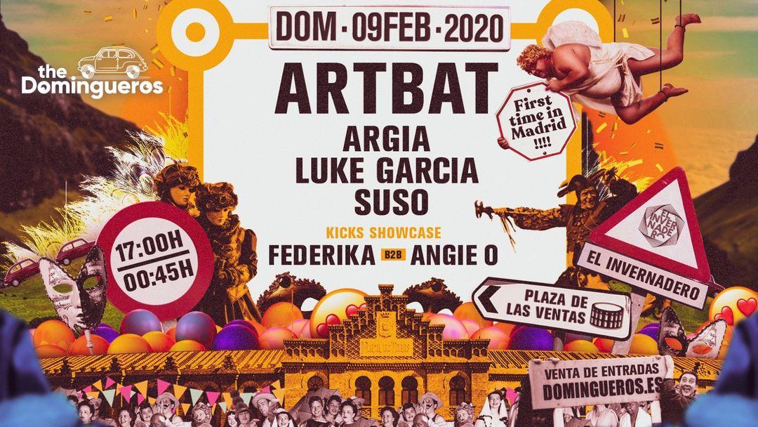 Cartel del evento The Domingueros presentan ARTBAT