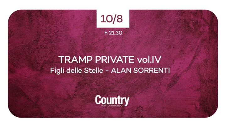 Cover for event: Alan Sorrenti x Tramp Vol IV