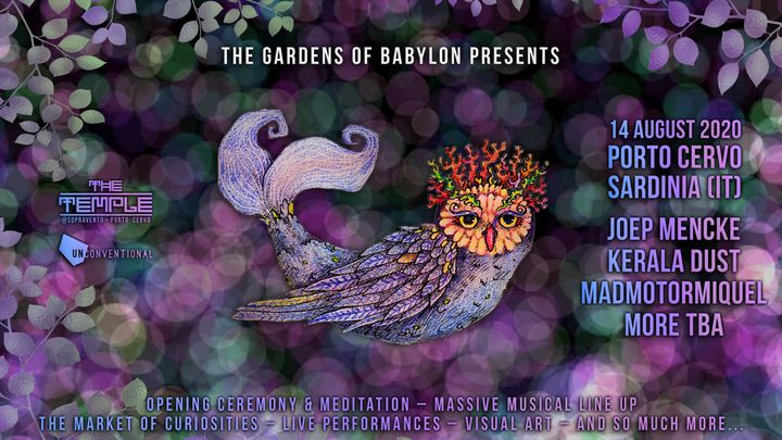 "Cover for event: ""The Gardens of Babylon"" 14.8"